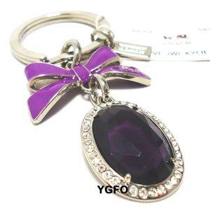 Coach Purple Swarovski Crystal Jewel Key Chain